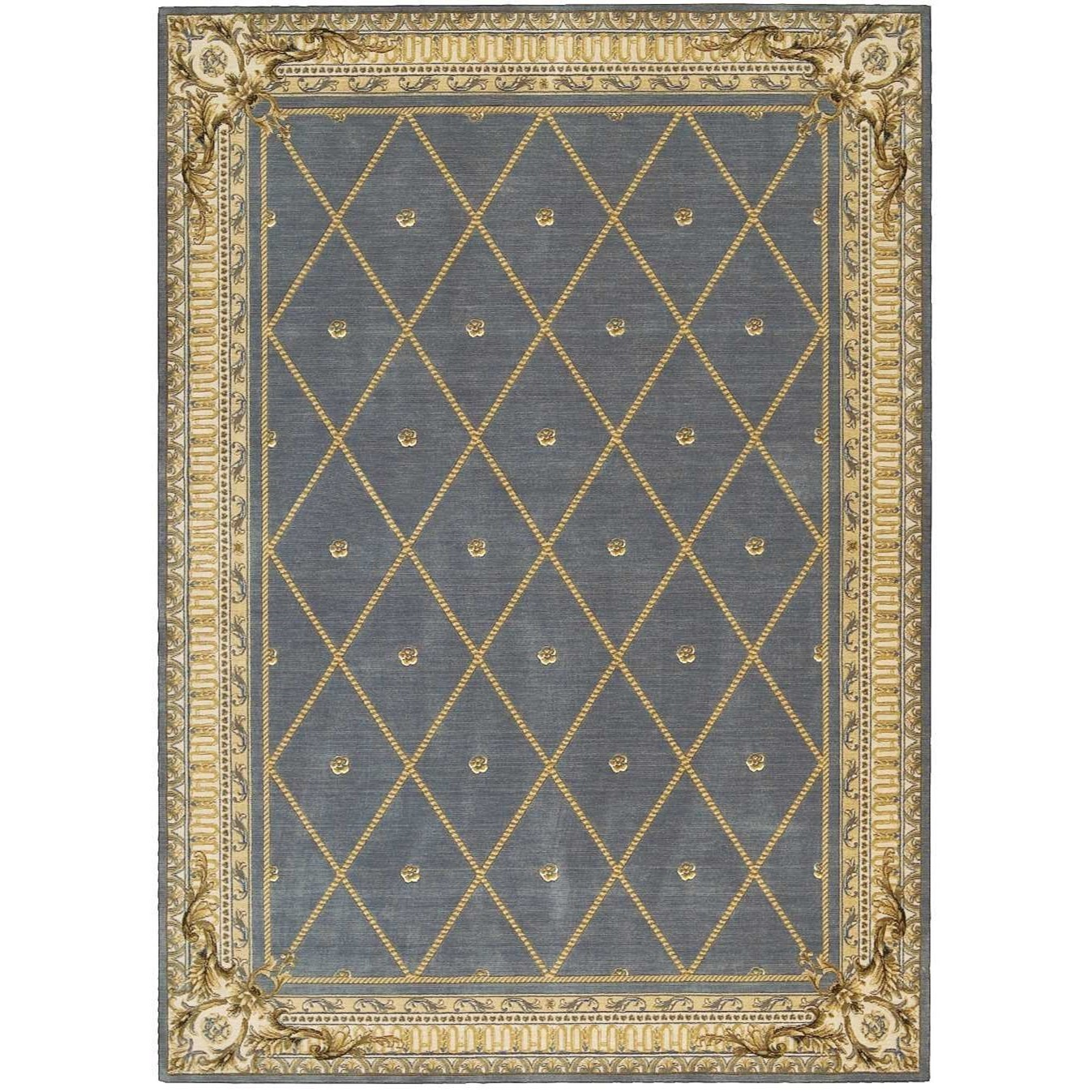 "9'6"" x 13' Blue Rectangle Rug"