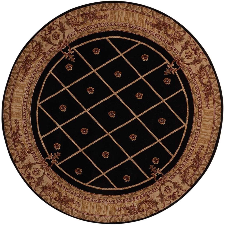 Nourison Ashton House 5 39 6 X 5 39 6 Black Round Rug Baer 39 S