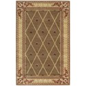 """Nourison Ashton House 3'6"""" x 5'6"""" Cocoa Rectangle Rug - Item Number: AS03 COC 36X56"""
