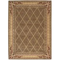 """Nourison Ashton House 5'6"""" x 7'5"""" Cocoa Rectangle Rug - Item Number: AS03 COC 56X75"""