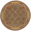 """Nourison Ashton House 7'5"""" x 7'5"""" Cocoa Round Rug - Item Number: AS03 COC 75X75"""