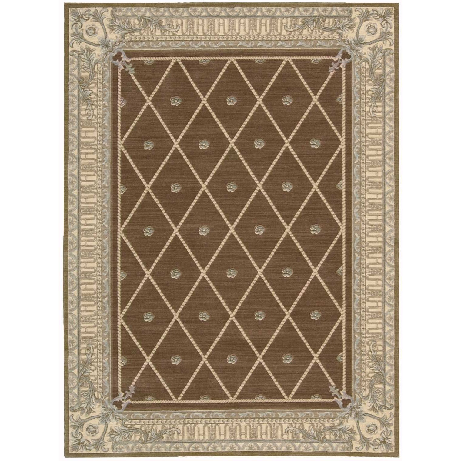 "Ashton House 3'6"" x 5'6"" Mink Rectangle Rug by Nourison at Sprintz Furniture"