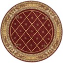 "Nourison Ashton House 5'6"" x 5'6"" Sienna Round Rug - Item Number: AS03 SIE 56X56"
