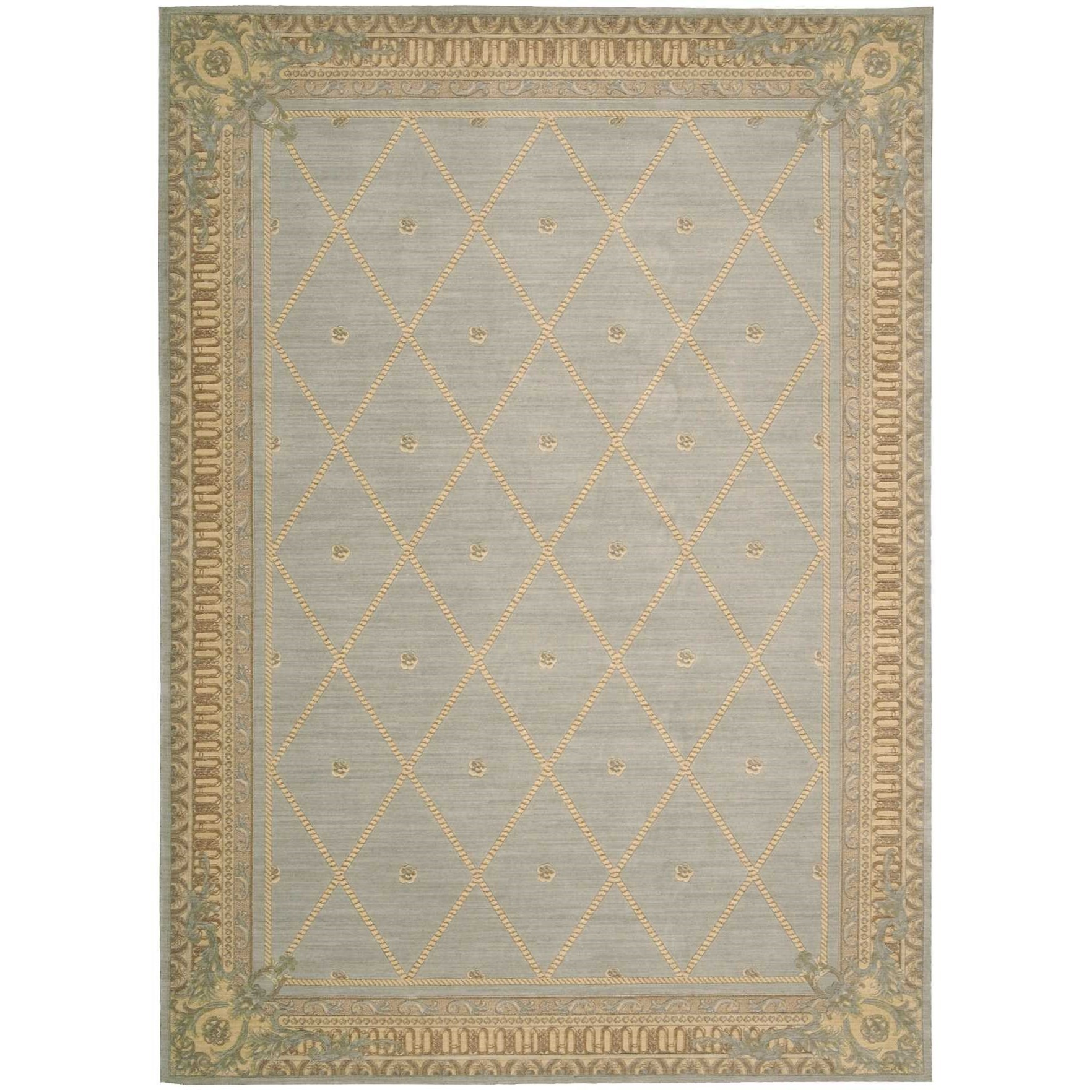 "Ashton House 7'9"" x 10'10"" Surf Rectangle Rug by Nourison at Sprintz Furniture"