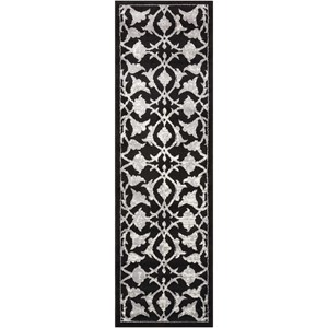 "Nourison Atash 2'2"" x 7'3"" Black Runner Rug"