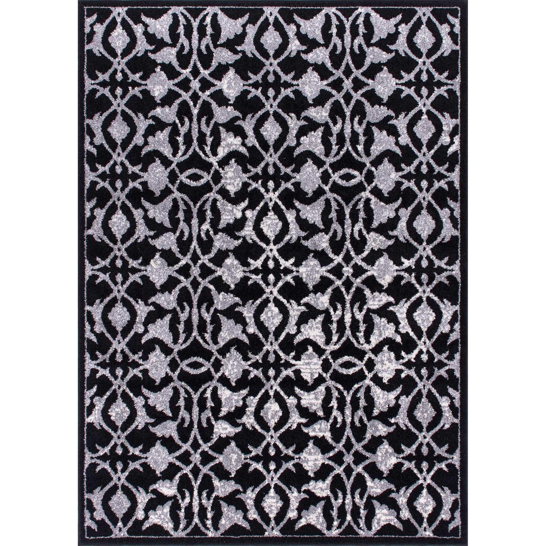 "3'11"" x 5'10"" Black Rectangle Rug"