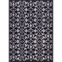 "Nourison Atash 3'11"" x 5'10"" Black Rectangle Rug - Item Number: ATA02 BLK 311X510"
