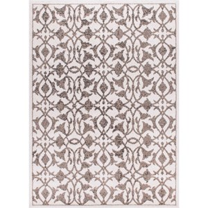 "3'11"" x 5'10"" Ivory Rectangle Rug"