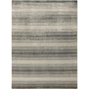 Nourison Aura 4' x 6' Silver Shadow Area Rug