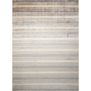 Nourison Aura 4' x 6' Silver Shadow Rectangle Rug