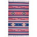 Nourison Baja 5' X 7' Pink/Blue Rug - Item Number: BAJ01 PKBLU 5X7