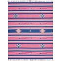 Nourison Baja 8' X 10' Pink/Blue Rug - Item Number: BAJ01 PKBLU 8X10