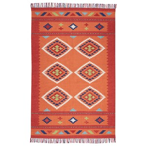 "Nourison Baja 3'6"" X 5'6"" Orange/Red Rug"