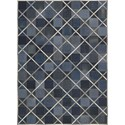 Nourison Barcaly Butera Lifestyle - Cooper 4' x 6' Indigo Area Rug - Item Number: 32192