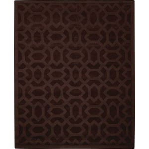 "Nourison Barcelona 3'6"" x 5'6"" Espresso Rectangle Rug"
