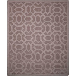 "Nourison Barcelona 7'9"" x 9'9"" Grey Rectangle Rug"