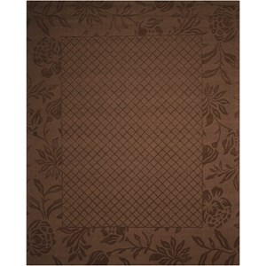 "Nourison Barcelona 7'9"" x 9'9"" Chocolate Rectangle Rug"