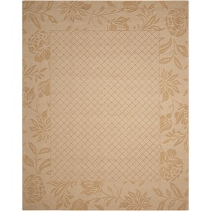 "Nourison Barcelona 7'9"" x 9'9"" Light Gold Rectangle Rug"
