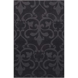 "Nourison Barcelona 3'6"" x 5'6"" Charcoal Rectangle Rug"