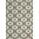 Nourison Barclay Butera Lifestyle - Prism 4' x 6' Slate Area Rug - Item Number: 30635