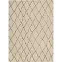 "Nourison Barclay Butera Lyfestyle - Intermix 5'3"" x 7'5"" Sand Area Rug - Item Number: 29050"