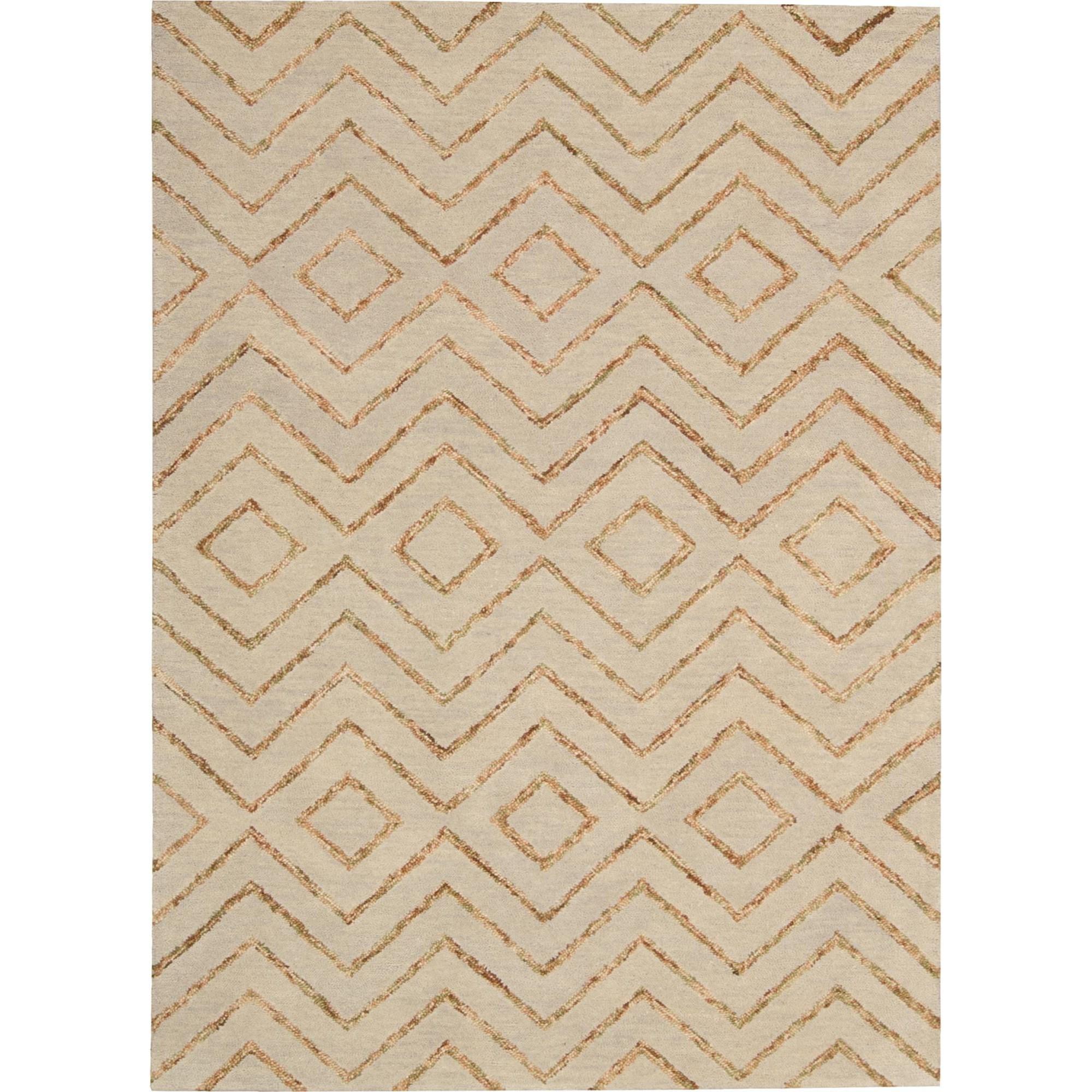 "Nourison Barclay Butera Lyfestyle - Intermix 3'6"" x 5'6"" Sand Area Rug - Item Number: 29070"