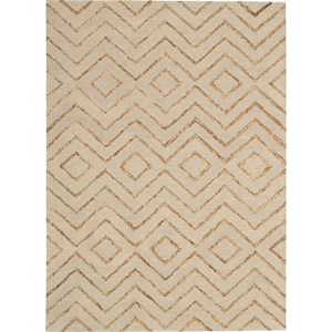 "Nourison Barclay Butera Lyfestyle - Intermix 5'3"" x 7'5"" Sand Area Rug"