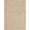 "Nourison Barclay Butera Lyfestyle - Intermix 5'3"" x 7'5"" Sand Area Rug - Item Number: 29071"
