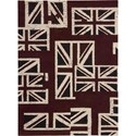 "Nourison Barclay Butera Lyfestyle - Intermix 3'6"" x 5'6"" Union Jack Area Rug - Item Number: 29837"
