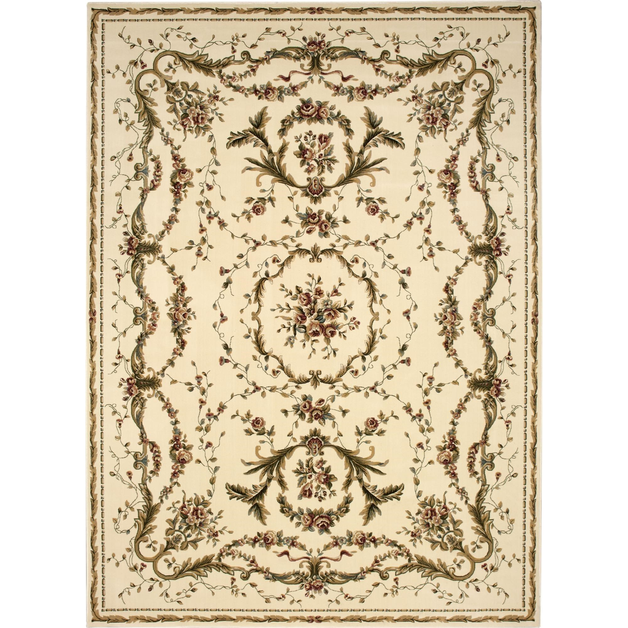 "Nourison Bordeaux 7'10"" x 10'10"" Ivory Area Rug - Item Number: 26378"