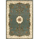 "Nourison Bordeaux 5'3"" x 7'4"" Slate Blue Area Rug - Item Number: 26380"