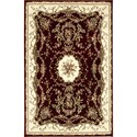 "Nourison Bordeaux 3'9"" x 5'9"" Burgundy Area Rug - Item Number: 26385"