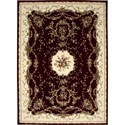 "Nourison Bordeaux 7'10"" x 10'10"" Burgundy Area Rug - Item Number: 26388"