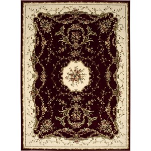 "Nourison Bordeaux 9'10"" x 13'2"" Burgundy Area Rug"