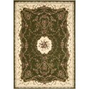 "Nourison Bordeaux 5'3"" x 7'4"" Sage Area Rug - Item Number: 26392"