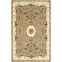 "Nourison Bordeaux 3'9"" x 5'9"" Cream Area Rug - Item Number: 26397"