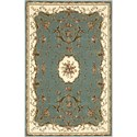 "Nourison Bordeaux 3'9"" x 5'9"" Slate Blue Area Rug - Item Number: 26404"