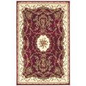 "Nourison Bordeaux 3'9"" x 5'9"" Burgundy Rectangle Rug - Item Number: BOR01 BUR 39X59"