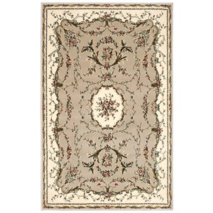 "Nourison Bordeaux 3'9"" x 5'9"" Cream Rectangle Rug"