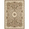"Nourison Bordeaux 5'3"" x 7'4"" Cream Rectangle Rug - Item Number: BOR01 CRM 53X74"