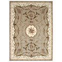 "Nourison Bordeaux 7'10"" x 10'10"" Cream Rectangle Rug - Item Number: BOR01 CRM 710X1010"