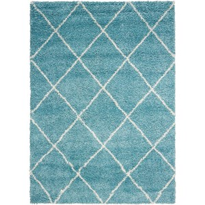 "Nourison Brisbane 3'2"" x 5' Aqua Rectangle Rug"