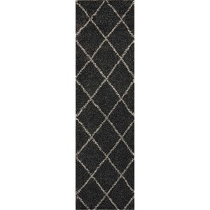 Nourison Brisbane 2' X 6' Charcoal Rug