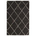 "Nourison Brisbane 3'2"" x 5' Charcoal Rectangle Rug - Item Number: BRI03 CHA 32X5"