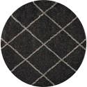 Nourison Brisbane 5' X 5' Charcoal Rug - Item Number: BRI03 CHA 5X5