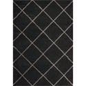Nourison Brisbane 9' X 12' Charcoal Rug - Item Number: BRI03 CHA 9X12