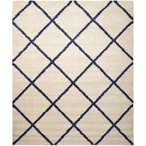 "Nourison Brisbane 8'2"" x 10' Ivory/Blue Rectangle Rug"