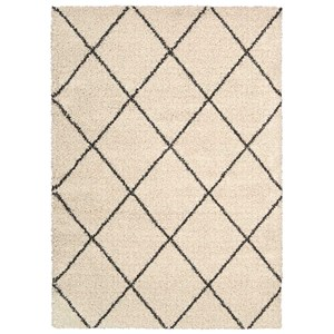 "Nourison Brisbane 8'2"" x 10' Ivory/Charcoal Rectangle Rug"