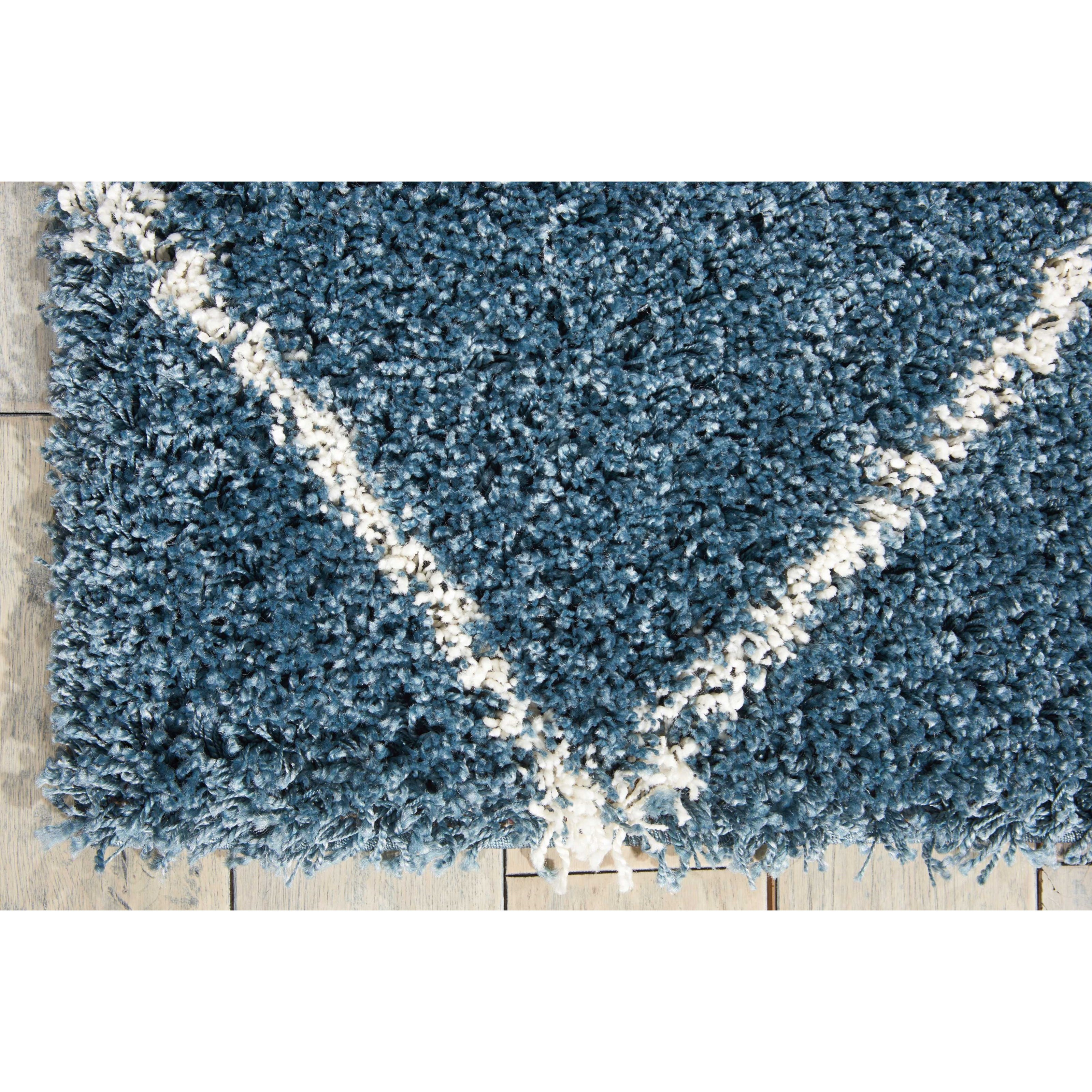 Rug Store Brisbane: Nourison Brisbane 5' X 7' Slate Blue Rectangle Rug