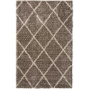 "Nourison Brisbane 3'2"" x 5' Stone Rectangle Rug - Item Number: BRI03 STONE 32X5"